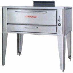 "Blodgett 1048 One (or Two) 10"" High Baking Compartment Stainless Steel Gas Single (or Double) Pizza Ovens 