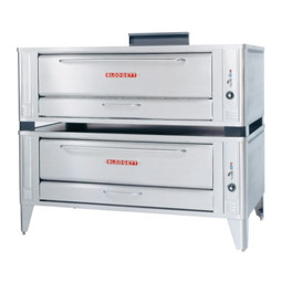 Blodgett 1060 Stainless Double Stack Gas Deck Pizza Oven