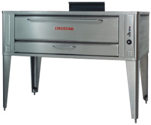 "Blodgett 1060 One (or Two) 10"" High Baking Compartment Stainless Steel Gas Single (or Double) Pizza Ovens 