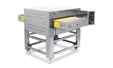 "ItalForni TSB Single or Double Stacked Gas Tunnel Stone Conveyor Pizza Ovens | One or Two Stacked Stainless Countertop Bake Ovens with 24"" Belt Width and 45"" Chamber Length 150000 BTU"