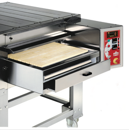 "ItalForni TSC Single or Double Stacked Gas Tunnel Stone Conveyor Pizza Ovens | One or Two Stacked Stainless Countertop Bake Ovens with 32"" Belt Width and 45"" Chamber Length 115000 BTU"
