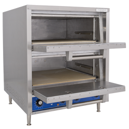 Bakers Pride P48S Double Deck HearthBake Series Countertop Electric Bake and Roast Ovens | Stainless Steel Commercial Pizza Ovens with Two (2) Ceramic Hearth Decks & Dual Baking Chambers