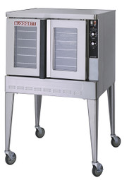 "Blodgett Zephaire-100-G Single (or Double) Deck Stainless Steel Full-Size Standard Depth Gas Convection Ovens | One (or Two) Deck Commercial Pizza Bake Ovens with Capacity (5) 18"" x 26"" Pans & Dual Pane Thermal Glass Windows 50000 BTU"
