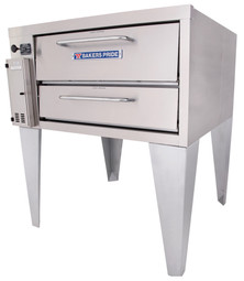 "Bakers Pride 251 One 8"" Deck Height Stainless Steel Super Convection Flo Deck Series Commercial Gas Pizza Ovens 