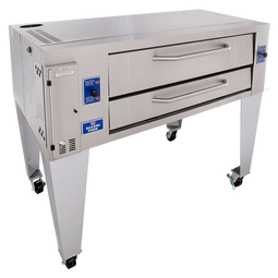 "Bakers Pride Y-600BL One 7.5"" Deck High Super Deck Series Stainless Steel Gas Pizza Bake Ovens 