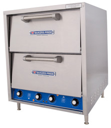 Bakers Pride P46BL Brick-lined Triple Deck HearthBake Series Countertop Electric Pizza / Bake and Roast Ovens | Stainless Steel Commercial Pizza / Pretzel Dual Ovens with Three (3) Ceramic Hearth Decks & Two (2) Baking Chambers