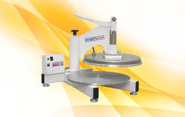 "DoughXpress DMS-18 220V Economic Commercial Manual Pizza Dough Presses   Capacity 75-100/HR for 9"" to 18"""