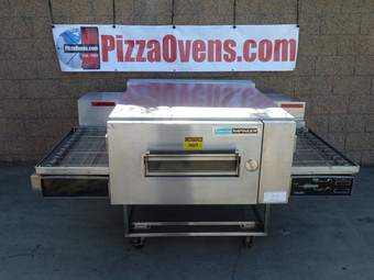 "Lincoln 1600_PO Single, Double or Triple Deck 1600 Series Pre-Owned/Remanufactured Impinger Low Profile Gas/Electric Conveyor Pizza Ovens with 40"" Baking Chamber and 32 inch Wide Conveyor Belt Per Oven 