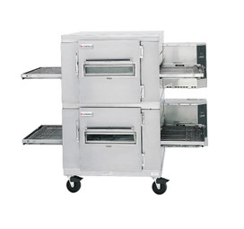 "Lincoln 1450-000-U Single or Double Deck Impinger I Natural Gas Conveyor Pizza Ovens with 40"" Baking Chamber and 32 inch Wide Conveyor Belt Per Oven 