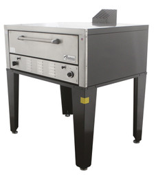 """Peerless CW41B Bake and Roast Gas Deck Ovens with One 7"""" High Deck and 42""""W x 32""""D Steel Deck Interior 