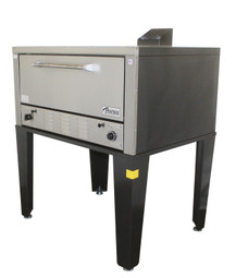 """Peerless CW51B Bake Gas Deck Ovens with One 12"""" High Deck and 42""""W x 32""""D Steel Deck Interior 
