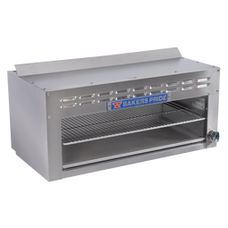 """Bakers Pride BPCMi-36 36""""W Restaurant Series Gas Cheesemelters with Infrared Burner   36 inch Wide Stainless Steel Commercial Countertop Cheese Melters 35000 BTU"""