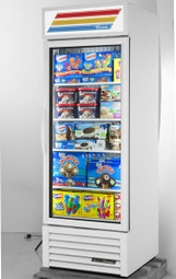 "True GDM-23F-HC-TSL01 - One Section Glass Hinged Door 23 cu ft 27""W Refrigerator Merchandisers 