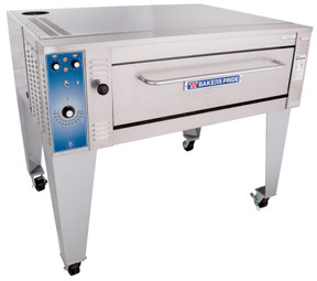 "Bakers Pride EB-1-8-3836 One 8"" Deck High Super Deck Series Single-Stacked Stainless Steel Electric Bake Ovens 