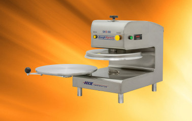 "DoughXpress DXE-SS 220V Electro-Mechanical Automatic Commercial Pizza Dough Presses | Capacity 150-200/HR for 9"" to 18"""