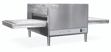 "Lincoln 2502/1366 Single or Double Deck Digital Countertop Impinger Conveyorized Electric Ovens with Extended 50"" Non-Stick Conveyor, 20 inch Long Baking Chamber and 16 in. Wide Conveyor Belt Per Oven 240V 