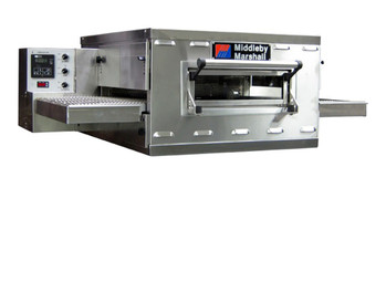 "Middleby PS528G Direct Gas Fired Commercial Countertop Conveyor Ovens with 28 inch Long Cooking Chamber and 18"" Wide x 50"" Long Conveyor Belt 