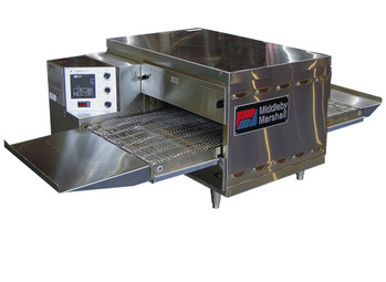 "Middleby Marshall PS520G Direct Gas Fired Commercial Countertop Conveyor Ovens with 20 inch Long Cooking Chamber and 18"" Wide x 42"" Long Conveyor Belt 