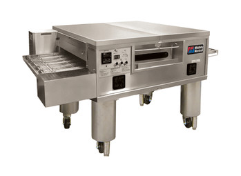 """Middleby PS555E Electrically Heated Impingement Plus Conveyor Ovens with 55 inch Long Cooking Chamber and 32"""" Wide x 91"""" Long Conveyor Belt 