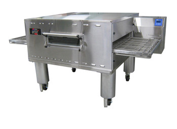 "Middleby PS360GWB Direct Gas Fired WOW! Impingement Commercial Wide Belt Conveyor Ovens with 37"" Wide x 90.75"" Long Conveyor Belt and 55 inch Long Cooking Chamber 