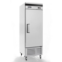Migali C-1FB-HC Competitor Series 1 Section Solid Door 3 Shelf 23 cu ft Stainless Steel Reach-In Bottom Mount Freezer