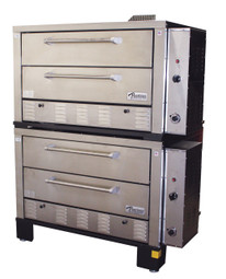 Peerless CW62PSC Double Stack Gas Deck Pizza Oven