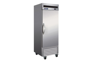 "Ikon IB27R - One Section Solid Door Stainless Steel 27""W 23 cu ft Upright Bottom Mount Reach-In Refrigerator"