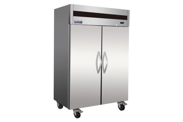 Ikon IT56R Two Section Double Solid Door Stainless Steel 49 cu ft Upright Top Mount Reach-In Refrigerator