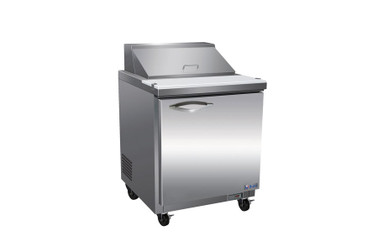 """Ikon ISP29-2D One Section Two Drawer 7 cu ft 28.9""""W Stainless Steel Refrigerated Standard Top Sandwich / Salad Prep Tables by MVP Group Corp 
