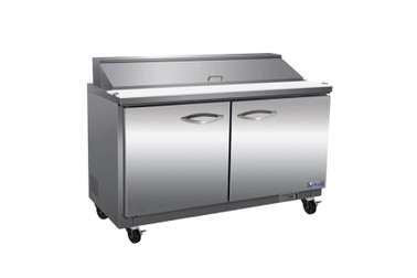 """Ikon ISP61-2D Two Section 1 Solid Hinged Door 2 Drawer 1 Shelf 15.5 cu ft 61.2""""W Stainless Steel Rear Mounted Refrigerated Standard Top Sandwich / Salad Prep Tables by MVP Group Corp 