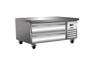 "Ikon ICBR50 Two Drawer 5.9 cu ft 50""W Stainless Steel Side Mounted Refrigerated Chef Bases by MVP Group Corp 