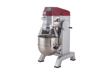 Axis AX-M60P 60 Qt (Quart) Capacity Commercial Floor Model Gear Driven Planetary Pizza Dough Mixer by MVP Group Corp