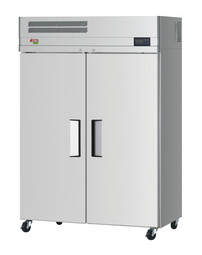 """Turbo Air EF47-2-N-V - Two Section Solid Door 42.2 cu ft 52""""W Stainless Steel E-Line Series Top Mounted Reach-In Freezers 