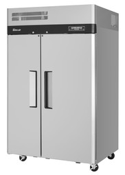 Turbo Air M3RF45-2-N - Two Section Solid Door Top Mounted 15 cu ft (f) 20.93 cu. Ft. (r) M3 Series Reach-In Freezer Refrigerators | 15 cu.ft. (f) 20.93 (r) cubic feet Reach In Refrigerator Freezers with 2 Doors, 6 Shelves, Self-Cleaning Condenser and R290 Refrigerant
