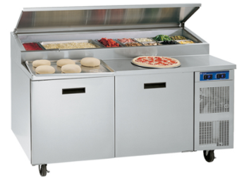 "Randell 8148W-290 One Section 48"" W 9 cu ft Refrigerated Raised Condiment Wide Rail"