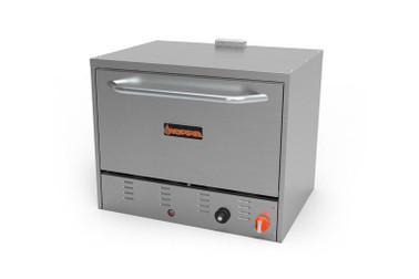 "Sierra Range SRPO-24G Stainless Steel Natural Gas 24""W Countertop  Pizza Ovens by MVP Group Corp | 24 inch wide Counter-Top Oven with Two (2) Adjustable Meteorite Ceramic Hearth Decks, 1 Door, U Type Burner 30000 BTU"