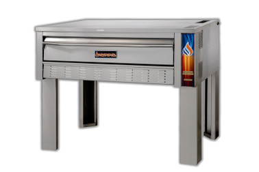"Sierra Range SRPO-72G - 72""W Full Size Single Stack Stainless Steel Natural Gas Pizza and Bake Deck Ovens 