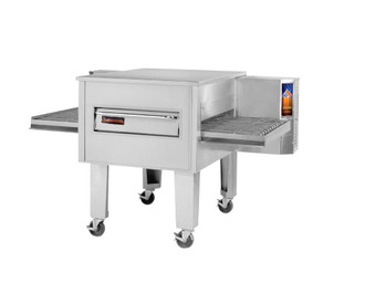 "Sierra Range C3236G - Single Stack Stainless Steel Gas Conveyor Pizza Ovens by MVP Group Corp | One (1) Deck Stackable Oven with 36 inch Wide Belt, Reversible Conveyor and 36"" Long x 32"" Deep Cooking Chamber 120000 BTU"