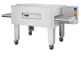"Sierra Range C3260E 96"" Single Stack Stainless Steel Electric Conveyor Pizza Deck Ovens with 32"" x 60"" Belt 