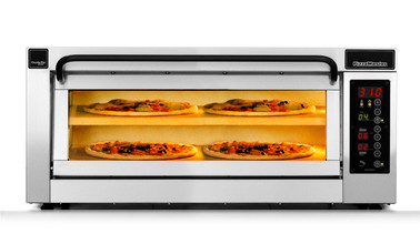 """PizzaMaster PM401ED-1DW 400 Series Double Width (32.3"""") One Chamber Two Stone Hearth Electric Countertop Pizza Ovens 