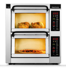 """PizzaMaster PM452ED 450 Series 18.1"""" Standard Width Two Chamber 2 Stone Hearth Electric Countertop Pizza Ovens 