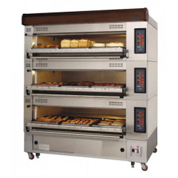 """Turbo Air RBDO-43 Three Tier Electric Radiance Deck Oven Holds Four European Size 16""""x24"""" Trays Per Deck 