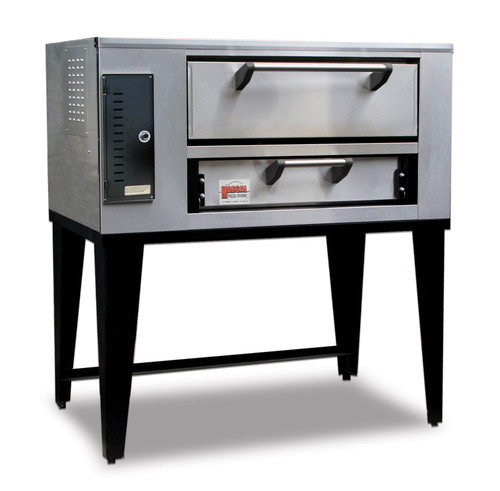 """Marsal SD-236 Single One 7""""H x 24"""" x 36"""" Baking Chamber Slice Series Commercial Stackable  Single Deck Gas Pizza Ovens   1-Stacked  Short Depth Ovens with Two 18"""" Pie Capacity, 7 inch High Door and 24"""" x 36"""" Cooking Surface 50,000 BTU"""