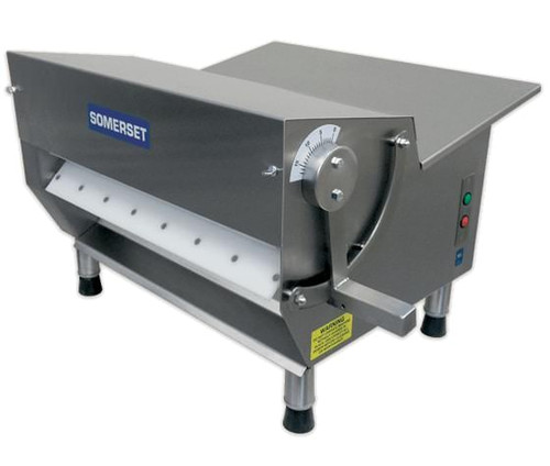"""Somerset CDR-500M Electric Tabletop Dough Sheeters with 20"""" Metallic Rollers / Side-Operated Sheeters - Single Pass"""