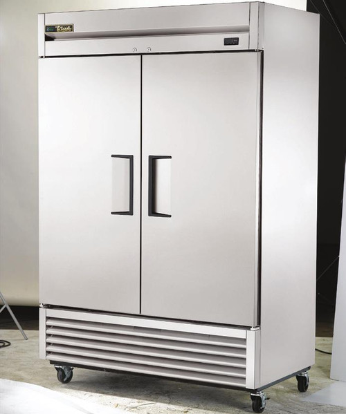 "True T-49F-HC - Two Section Solid Door Bottom Mounted 49 cu ft 54""W Stainless Steel Reach-In Freezers 