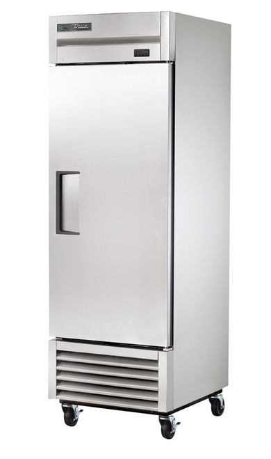 True T-23-HC - One Section Solid Hinged Door Bottom Mounted 23 cu ft Stainless Steel Reach-In Refrigerators | 23 cubic feet Reach In Refrigerators with 1 Swing Door and R290 Refrigerant