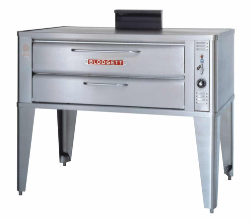 """Blodgett 966 One (or Two) 16.25"""" High Baking Compartment Stainless Steel Commercial Gas Single (or Double) Bake and Roast Ovens   1 (or 2) Section Steel Deck Ovens with 42""""W x 32""""D Deck Interior & 16.25 inch Chamber Height 50000 BTU"""