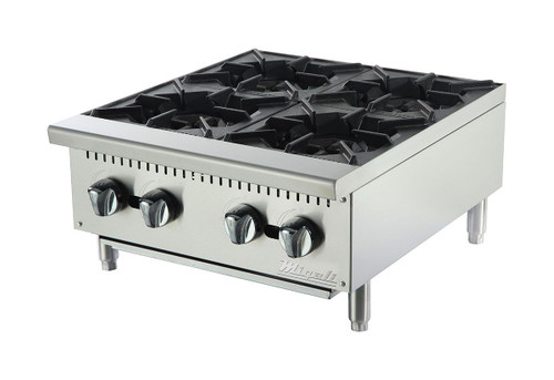 Migali C-HP-4-24 Competitor Series 4 Burner Stainless Steel Hot Plate
