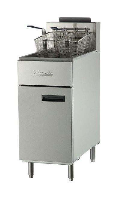 Migali C-F40-NG Competitor Series Commercial Natural Gas Stainless Steel Fryer Pizza Oven