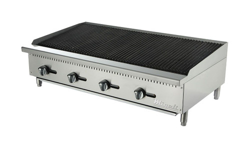 "Migali C-RB48 Competitor Series 48"" Wide Stainless Steel Radiant Broiler"